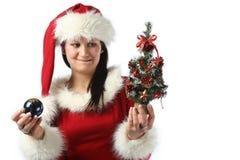 Santa girl Royalty Free Stock Images