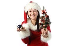 Santa girl Royalty Free Stock Photography
