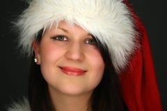 Santa girl portrait Stock Image