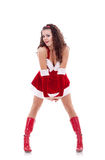 Santa girl posing Stock Photography