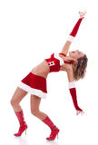 Santa girl posing Royalty Free Stock Photos