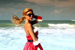 Santa girl vocation Royalty Free Stock Images