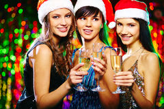 Santa Girls Foto de Stock