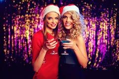 Santa Girls Royalty-vrije Stock Afbeeldingen