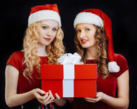 Santa girls Royalty Free Stock Photos