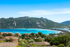 Santa Giula beach in Corsica Island in France Stock Images