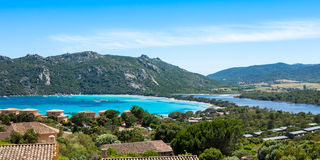 Santa Giula beach in Corsica Island in France Royalty Free Stock Photography