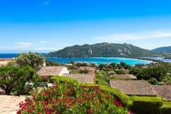 Santa Giula plaża w Corsica wyspie w Francja Zdjęcia Stock