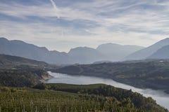 Santa-Giustina湖 库存图片