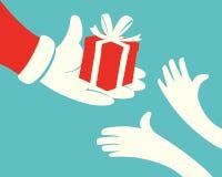 Santa Giving Gift-doos vector illustratie