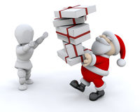 Santa giving gifts Stock Photography