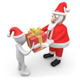 Santa Giving A Present Stock Photography