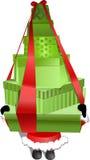 Santa giving presents. Santa claus giving a lot of christmas presents for you Royalty Free Stock Image