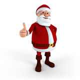 Santa giving thumbs-up. Cartoon Santa Claus giving thumbs-up - high quality 3d illustration stock illustration