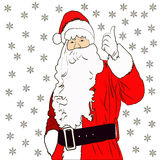 Santa. Glad Santa for Christmas and New Year decoration Stock Image