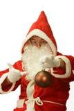Santa with Glitter Ball Stock Photo
