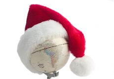 Santa-globe Royalty Free Stock Photo