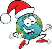 Santa globe Stock Image