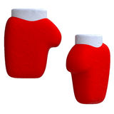 Santa gloves in plasticine or clay style Royalty Free Stock Image