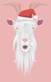 Santa goat Stock Image