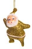 Santa gold decoration. Isolated on white background royalty free stock photo