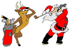 Santa_golf Fotos de Stock Royalty Free
