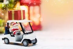 Santa on golf car for Christmas