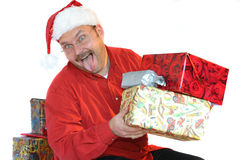 Santa gone crazy Stock Photos