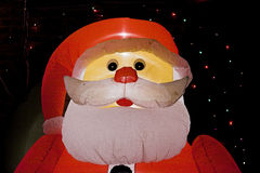 Santa gonflable Photos libres de droits