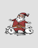 Santa gotówka ilustracji