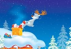 Santa got stuck in chimney Stock Photos