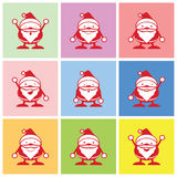 Santa graphic emotions vector Royalty Free Stock Photography