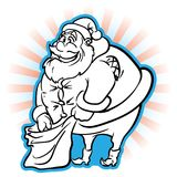 Santa grassa impacciata Immagini Stock