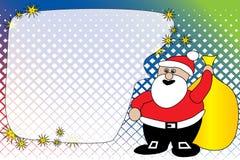 Santa greeting card Stock Photo