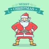 Santa Greeting Card Royalty-vrije Illustratie
