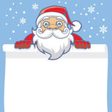 Santa greeting card Royalty Free Stock Photo