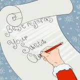 Santa greeting signs. Stock Photos