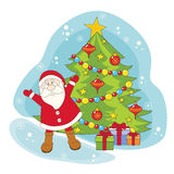 Santa greeting you a Merry Christmas. Royalty Free Stock Photography