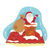 Santa greeting you a Merry Christmas. Stock Images