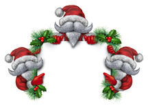 Santa Group Sign Royaltyfri Bild