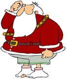 Santa ha perso i suoi pantaloni Immagini Stock Libere da Diritti