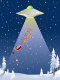 Santa ha rapito dal UFO Fotografia Stock Libera da Diritti