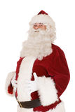 Santa with hands on belly Royalty Free Stock Image