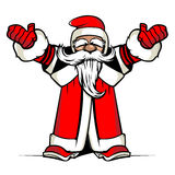 Santa hands up Royalty Free Stock Photo