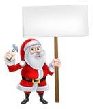 Santa Handyman Sign Imagenes de archivo