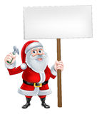 Santa Handyman Sign Stock Images