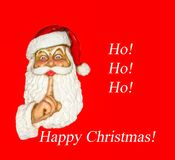 Santa Happy Christmas Ho! Ho! HO! royalty free stock photo