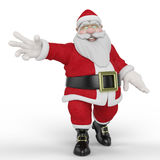 Santa happy and free Royalty Free Stock Image