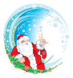 Santa happy new year. Santa, New year 2010, ilustratin Royalty Free Stock Image