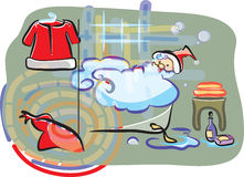 Santa after hard day Stock Photography